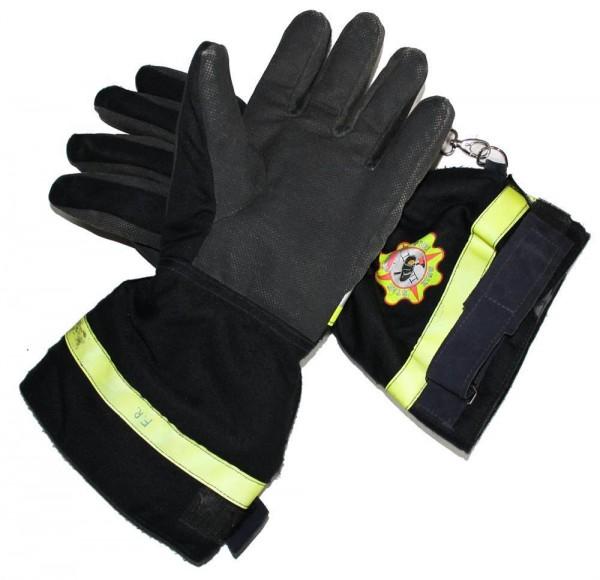 Feuerwehr Handschuhe gebraucht Paar Seiz FW Gr. 12 EN659 Neon