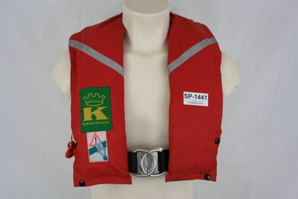 Rettungsweste Kadematic Schwimmweste Ruderer Lifejacket Kanuten CO2 1441
