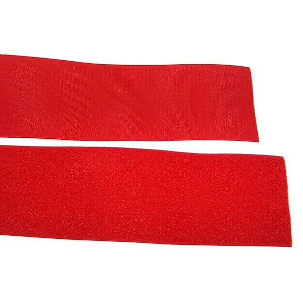 Klettband Klett Haken 150mm rot H+F Flausch Industrieklettband aufnähbar stark