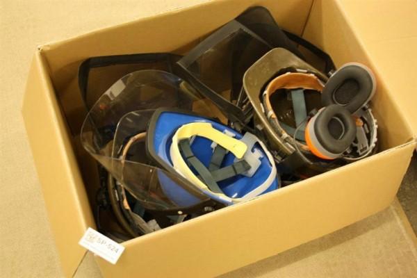 Schnittschutzhelm 4 Stück braun blau Gr 53 61 Forsthelm Forstschutz Forst bw 524