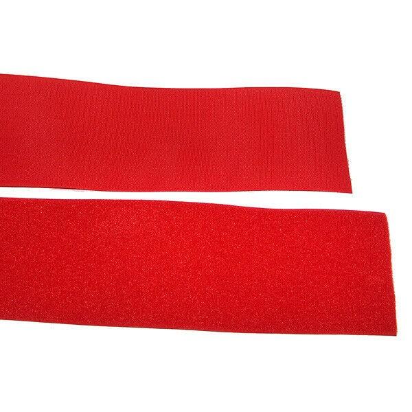 Klettband Klett Haken 50mm rot H+F Flausch Industrieklettband zum aufnähen stark