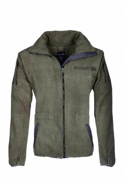 Fleecejacke Größe L oliv Outdoor Jacke Neu Sweater Fleece Kälteschutz Jagd Bund