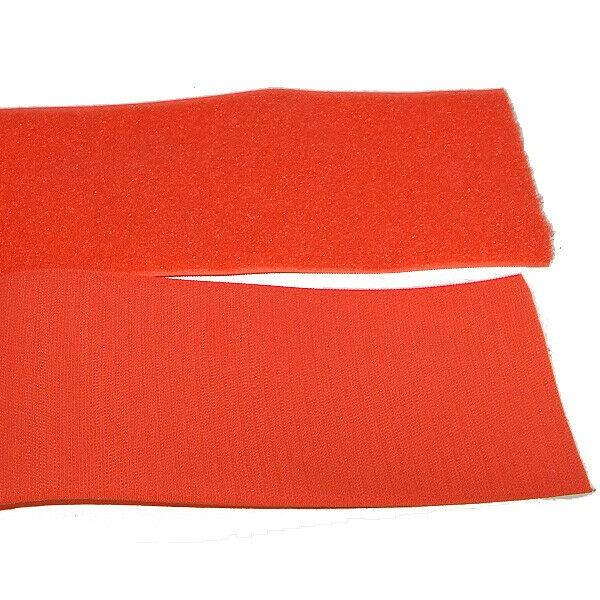 Klettband Klett Haken 50mm orange H+F Flausch Industrieklettband zum aufnähen