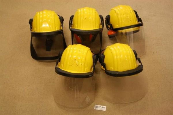 Schnittschutzhelm 5 Stück gelb Gr 53 61 Forsthelm Schutzhelm Waldarbeiter bw 523