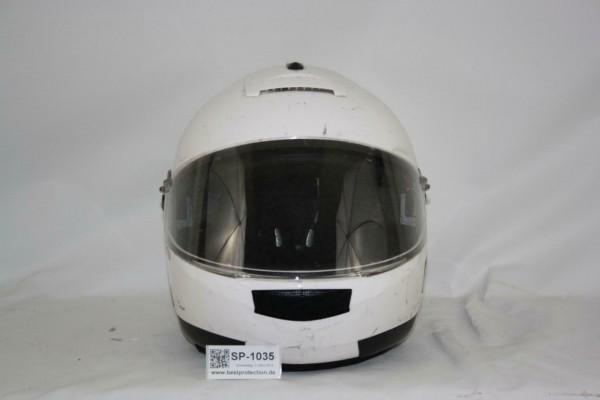 Schuberth Motorradhelm weiß C2 Gr 61 XL BUND Polizei Klapphelm Helm BW BUND 1035