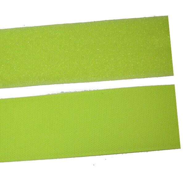 Klettband Klett Haken 50mm neon-gelb H+F Flausch Industrieklettband aufnähbar