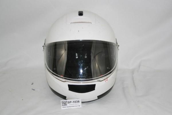 Schuberth Motorradhelm weiß C2 Gr 61 XL Visier Motorrad Helm Polizei BUND 1036