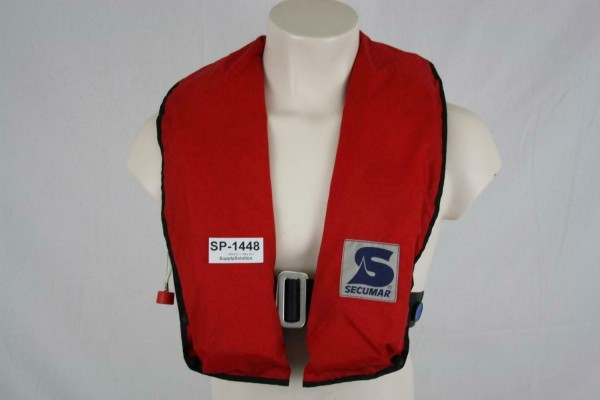 Rettungsweste Secumar Priva 150 Light Schwimmweste Lifejacket Kanuten CO2 1448