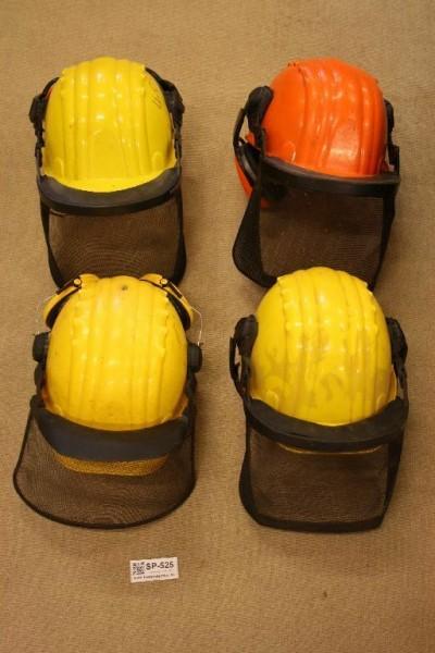 Schnittschutzhelm 4 Stück gelb orange Gr 53 61 Forsttechnik Agrar Forsthelm 525