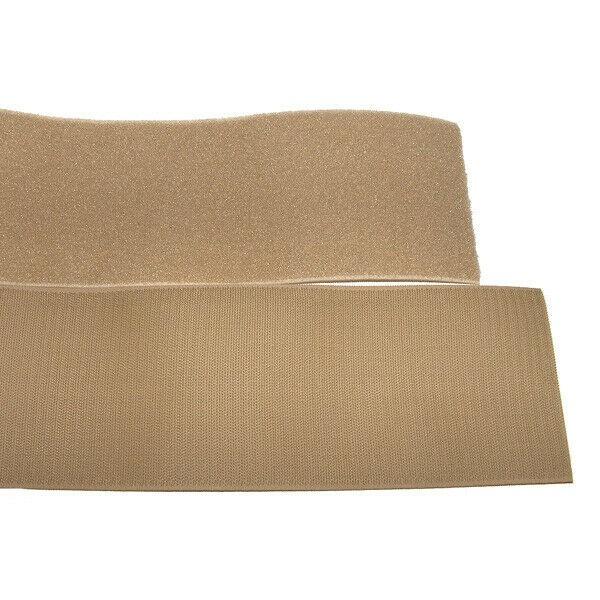Klettband Klett Haken 100mm sand H+F Flausch Industrieklettband aufnähbar stark