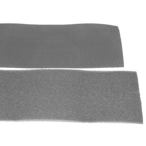 Klettband Klett Haken 50mm grau H+F Flausch starkes Industriekettband aufnähbar