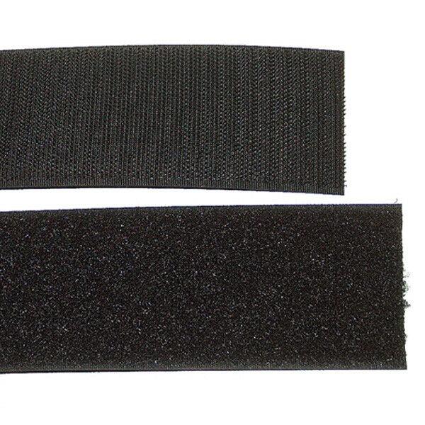 Klettband Klett Haken 100mm schwarz H+F Flausch Klettband zum aufnähen stabil