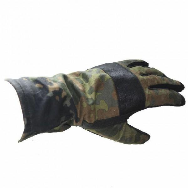 Kampfhandschuhe 5 Farbtarndruck Größe 9 Fingerhandschuhe Militär Leder Soldat BW