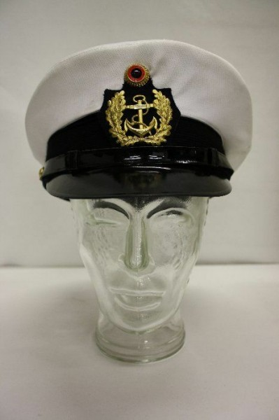 Schirmmütze Kapitänsmütze Kapitän Fasching Karneval Mütze Matrose Marine Gr. 53