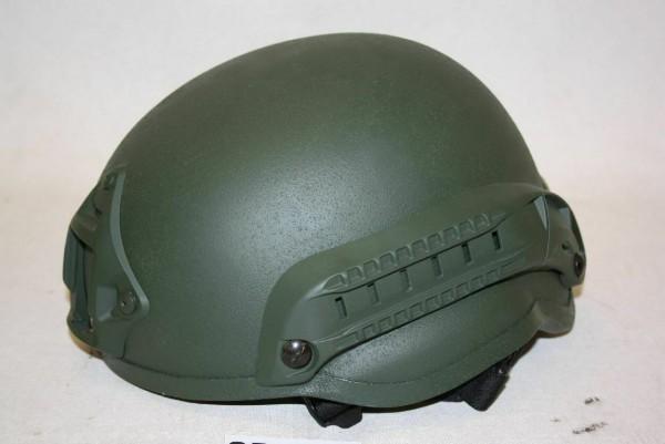 Airsoft Helm Paintball Gefechtshelm Einsatzhelm Rails oliv BW BUND Militär 1601