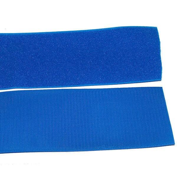 Klettband Klett Haken 100mm blau H+F Flausch Klettband zum aufnähen sehr stark