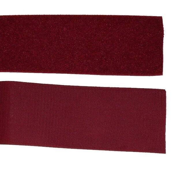 Klettband Klett Haken 100mm bordeaux-rot H+F Flausch Klettband zum aufnähen