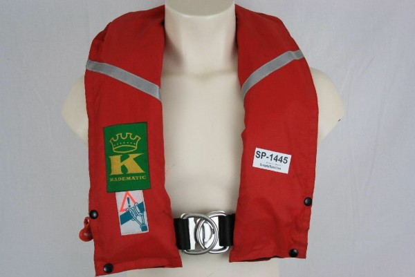 Rettungsweste Kadematic Schwimmweste Ruderer Lifejacket Kanuten CO2 1445